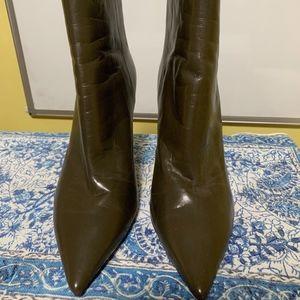 Jimmy Choo Olive Green Heel Boots/Booties